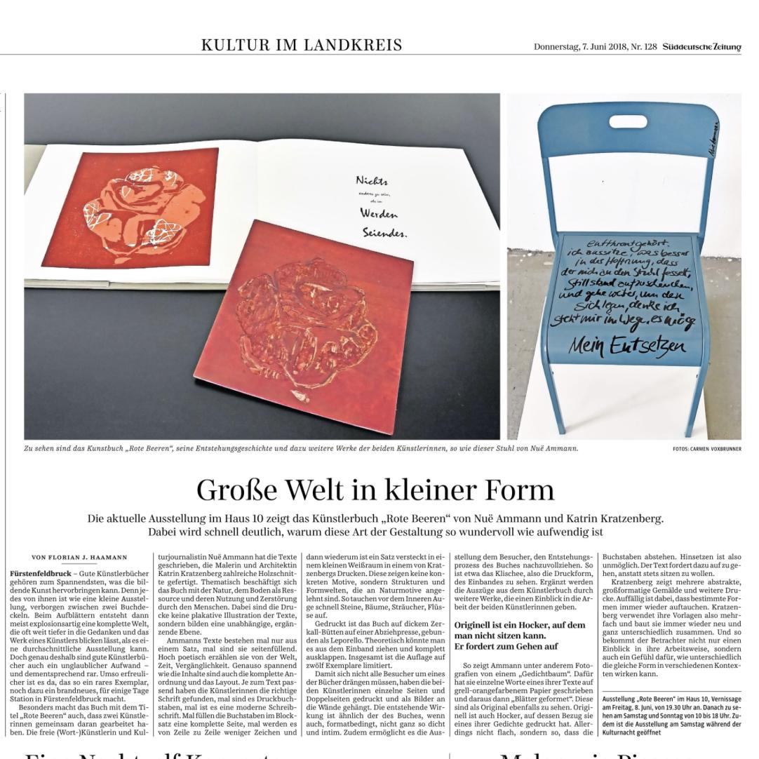 Rote Beeren in der Süddeutschen Zeitung